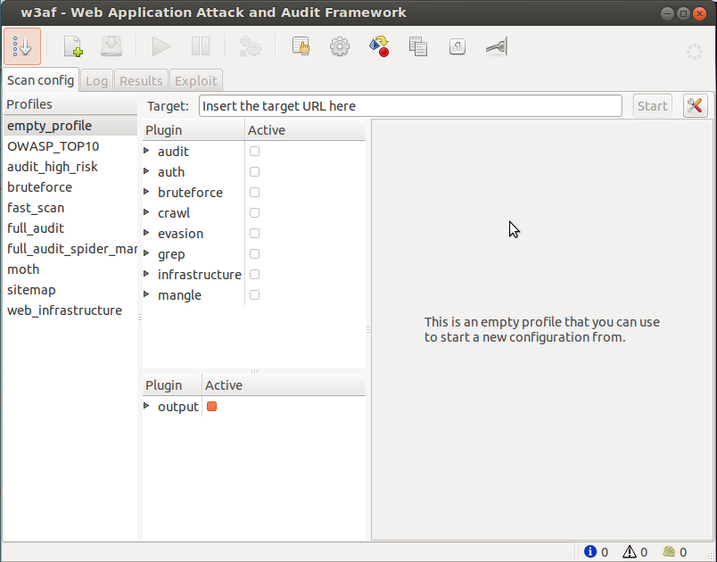 Find XSS and SQL injections | w3af - Open Source Web Application