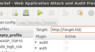 Find XSS and SQL injections   w3af - Open Source Web